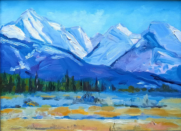Mission Mountains - 9x12 - oil - 2020.jp