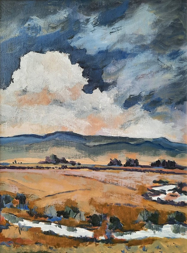 Clouds - 12x16 - oil on panel - July 202