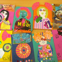 8.Art postcards made by children at Radnor Fringe community workshop (2018)