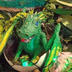 2.Baby dragon made at community workshop (2019)