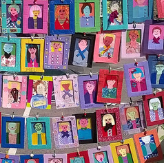 7.Detail from Self Portrait Wall made with learners and tutors (2014)