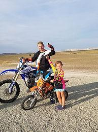Dirt Bikes, Father Daughter, Badlands