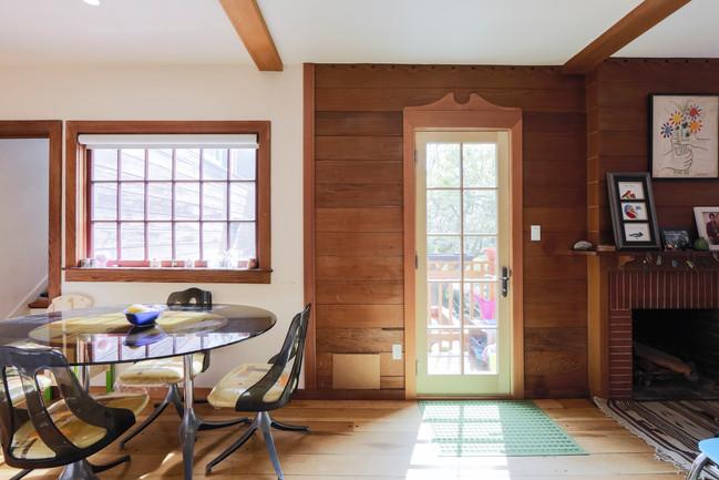 View of New Door to Deck