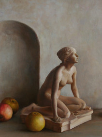 Sculpture and Fruits