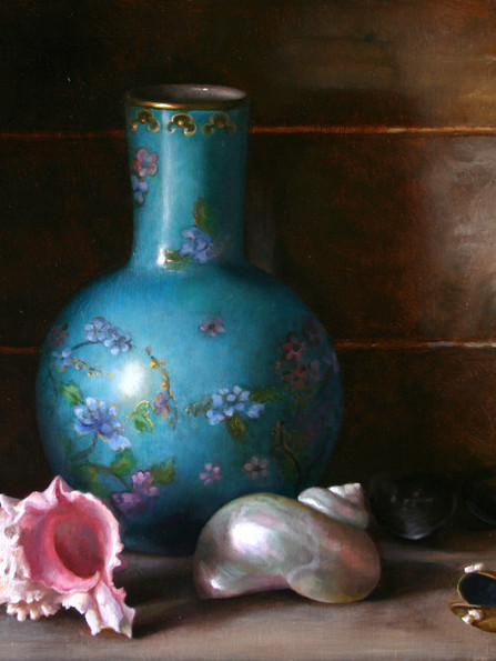 Vase and Seashells