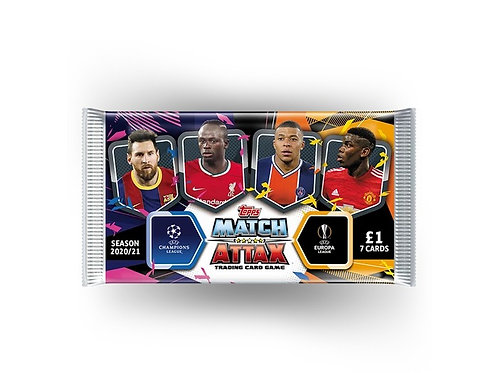TOPPS MATCH ATTAX UCL TRADING CARDS 2020/21