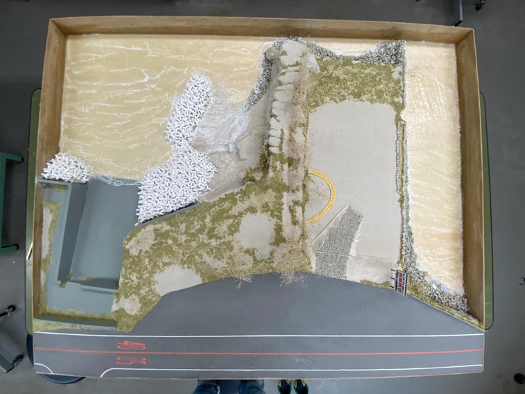 キャンプサイト敷地模型