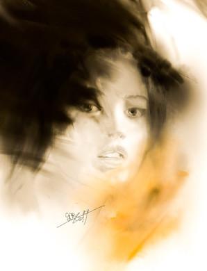 Female potrrait. Sergei Oreshkin. 2019. Digital sketch.