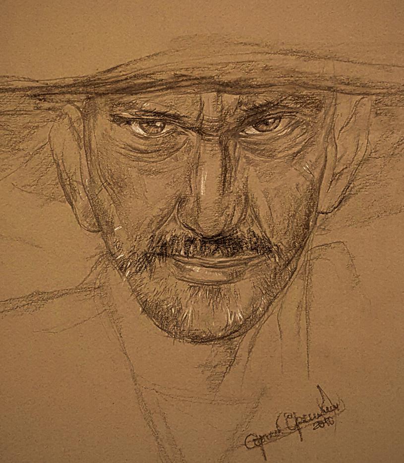 Old man portrait. Sketch. Sergey Oreshkin. 2016. Pencil on paper.