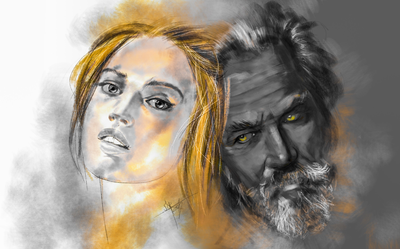 Two. Psychological sketch sketch. Sergey Oreshkin. 2019. Pastel on paper.