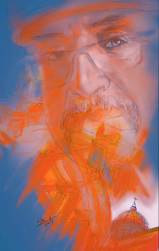 Architectural sketch of Sergey Oreshkin. 2019.   Архитектурный скетч Сергея Орешкина. 2019.