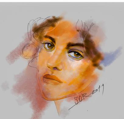 Female potrrait. Sergei Oreshkin. 2019.Digital sketch.