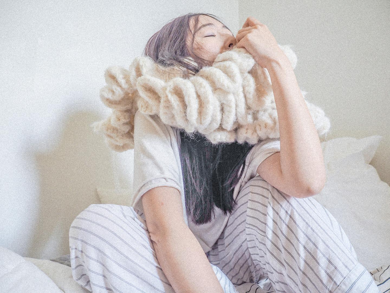 hand crochet mohair ruffles