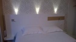 Tête de lit d'un hôtel sur Pornic