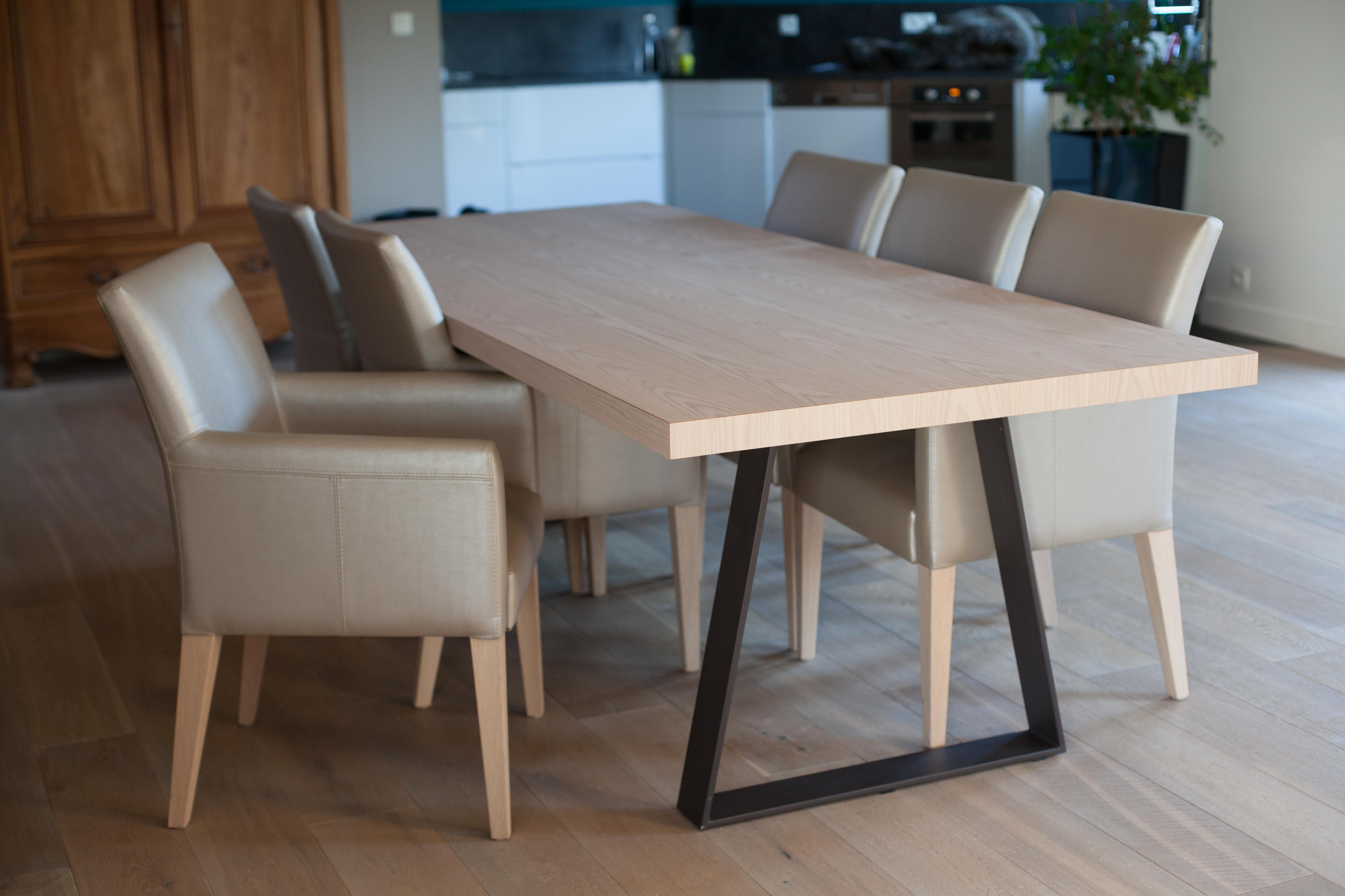 Table mélange Bois-métal