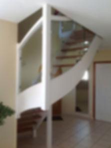 Escalier relooké, Menuiserie MERCERON Fabrice