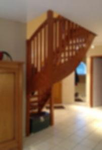 Escalier bois à relooker, Menuiserie MERCERON Fabrice