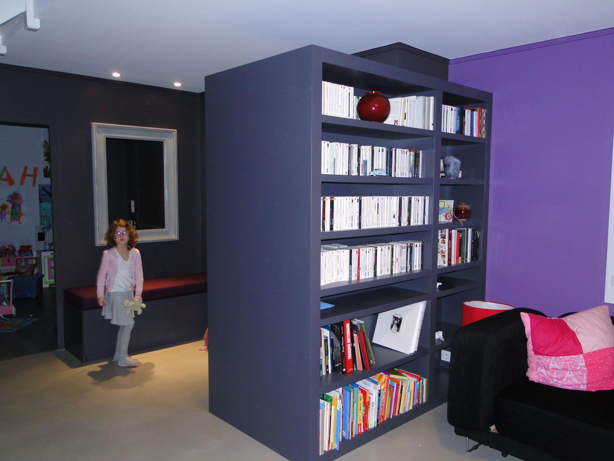 Bibliothèque, aménagement coin lecture