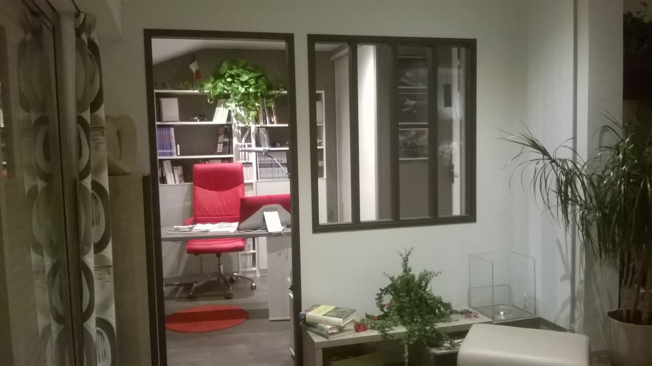 Verrière et aménagement  bureau