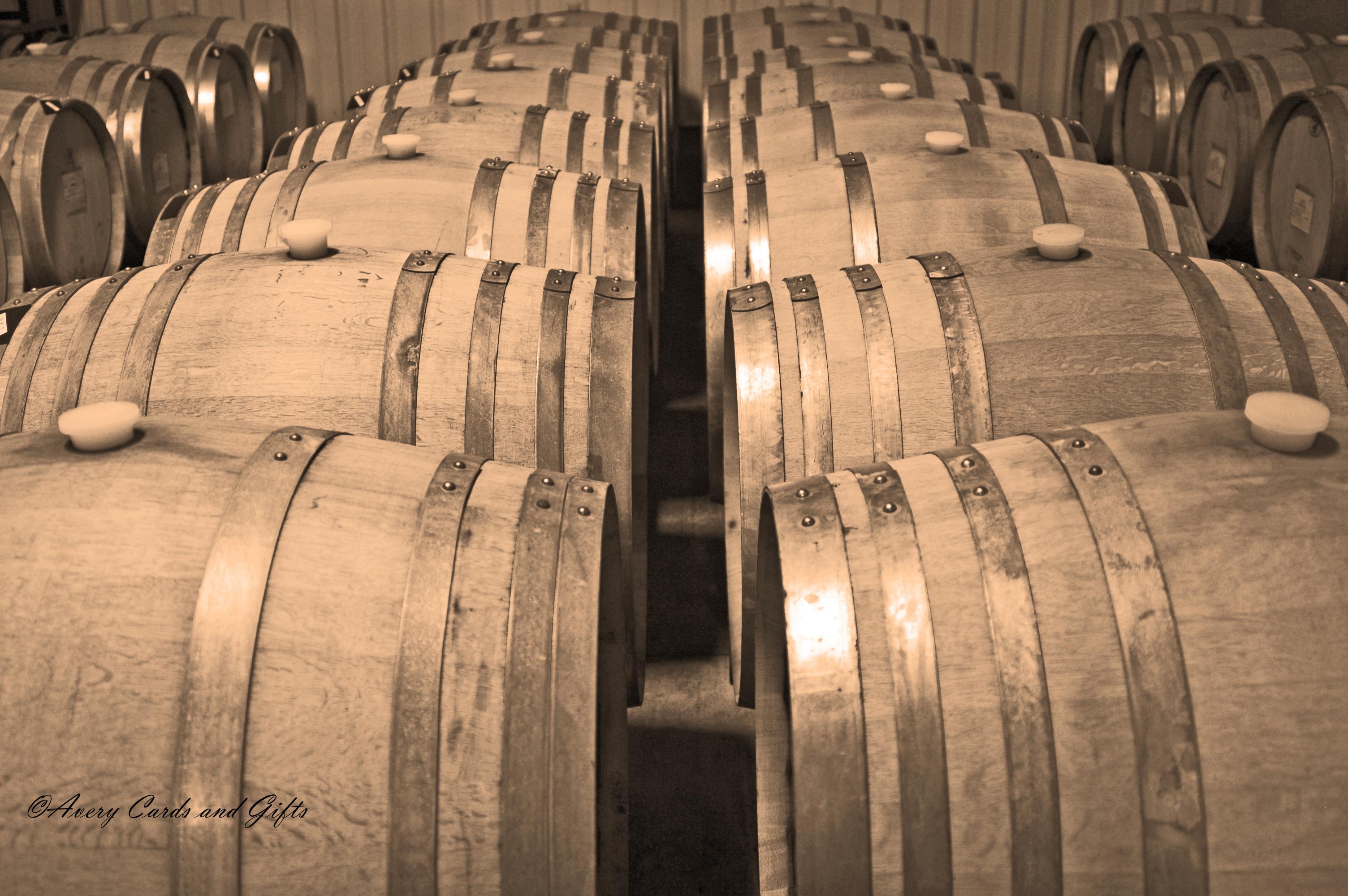 Wine barrels - sepia.jpg