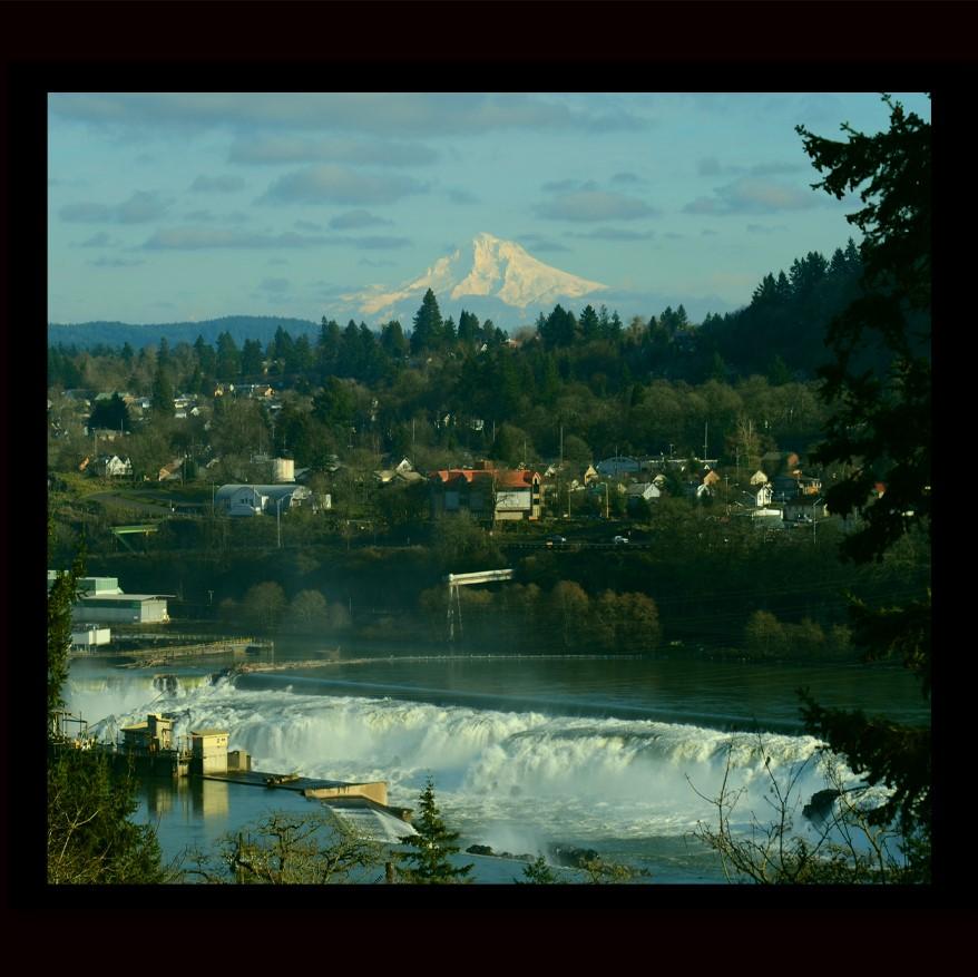 OC Mt Hood and Falls color