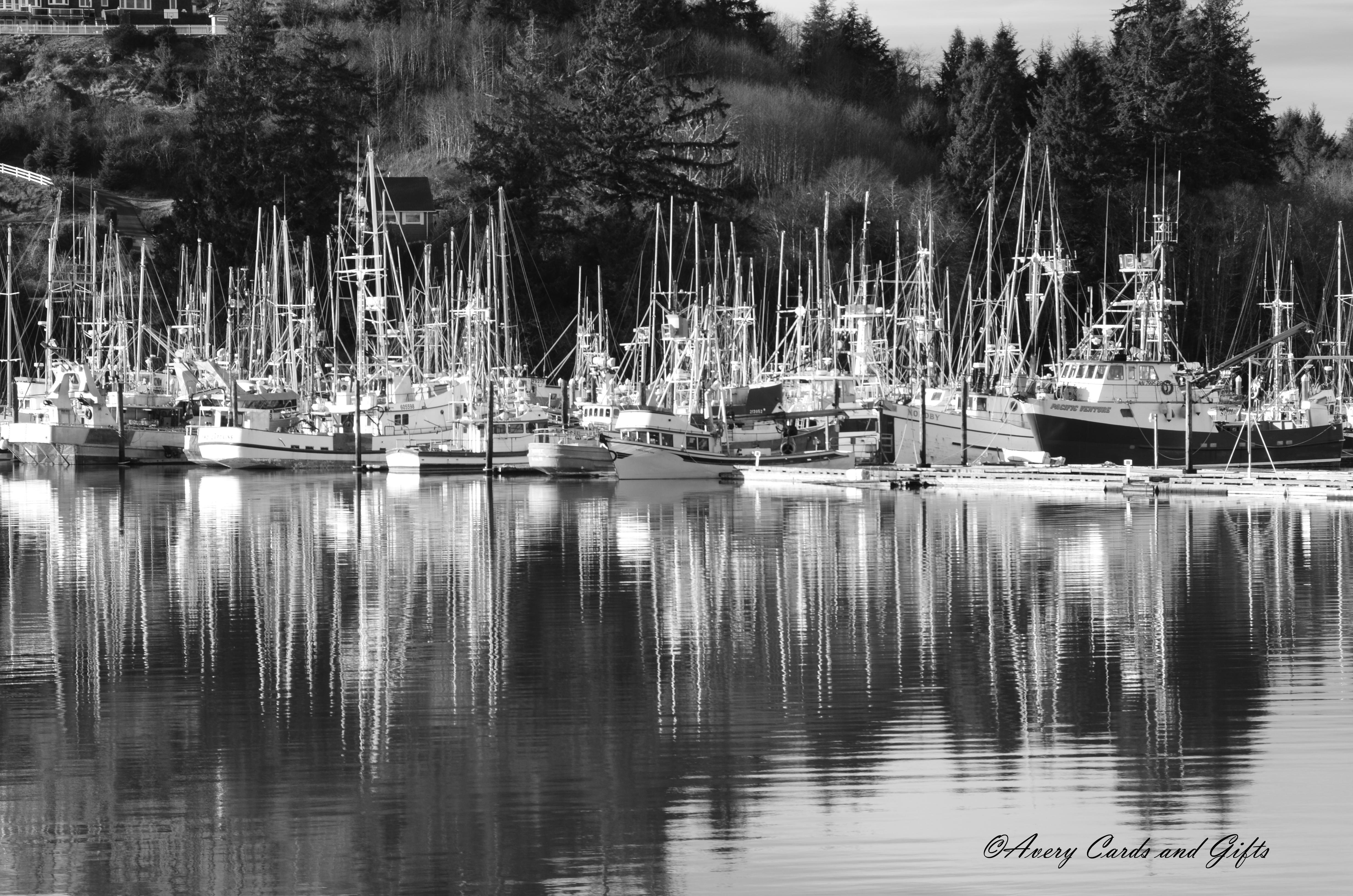 Ilwaco boats b&w.jpg