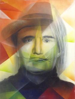 Портрет художника 20 века 60 см на 80 см