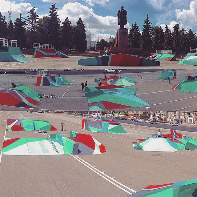 #skate #park #chelyabinsk #city #abstract #polygons #artwork by #spraypaint #cans #geometrical #comp