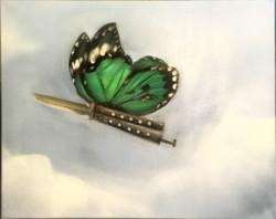 Бабочка 25 см на 35 см