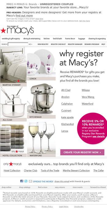 Macy's Registry
