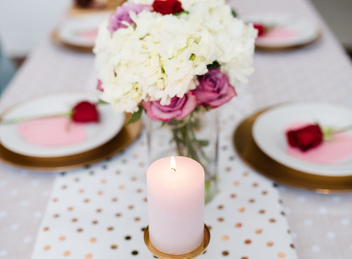 Wow your guests with this simple Galentine's DIY Tablescape.