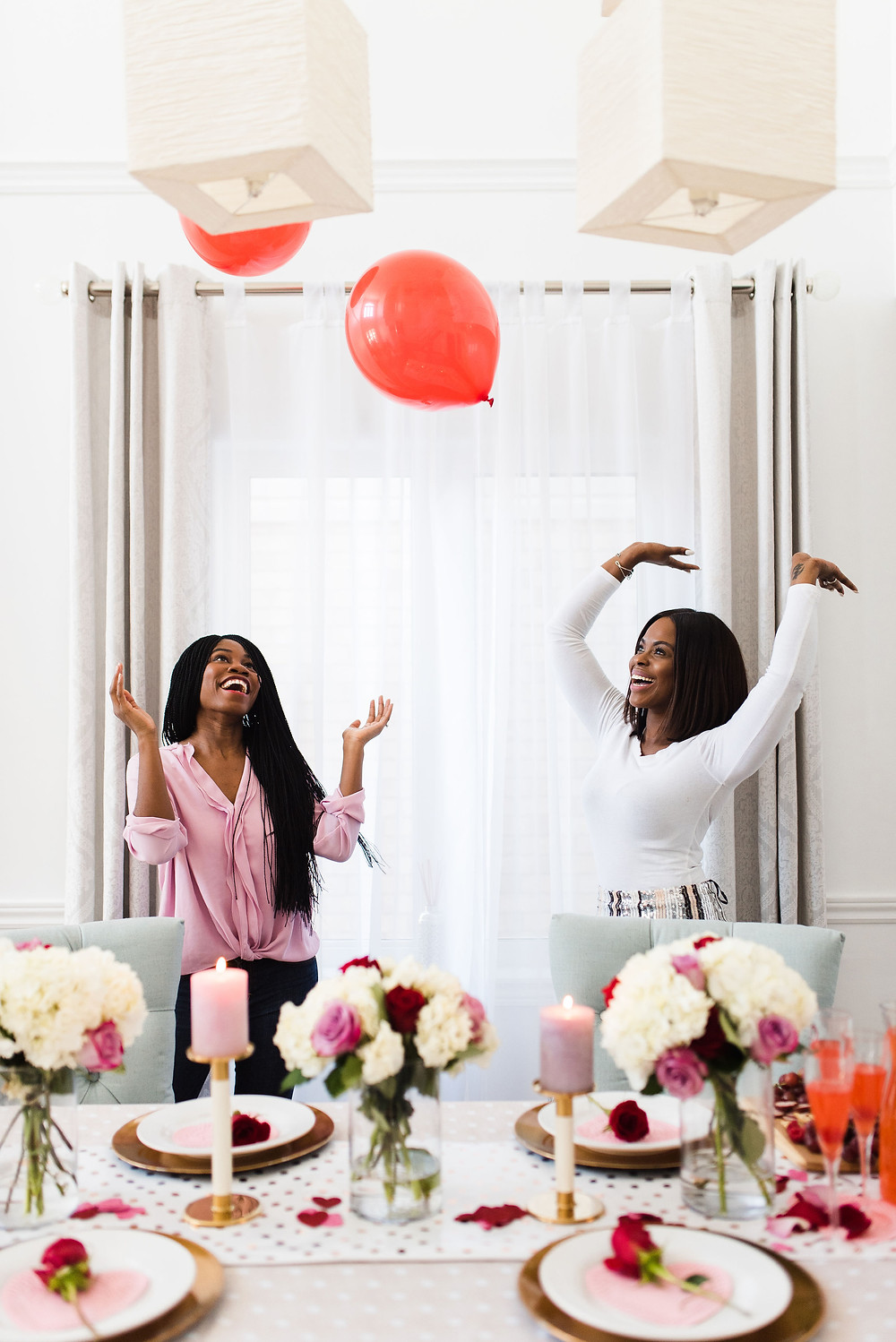 Visit her blog for details on How to Throw a Galentine's Day Party