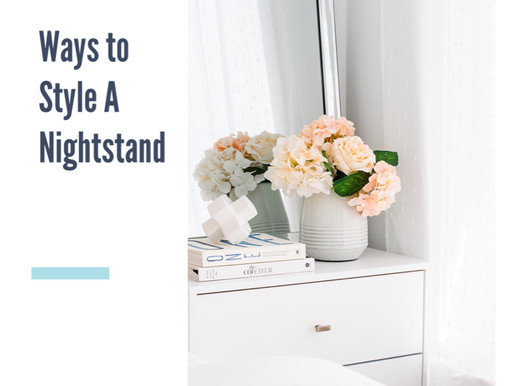 2 Ways to Style a Nightstand