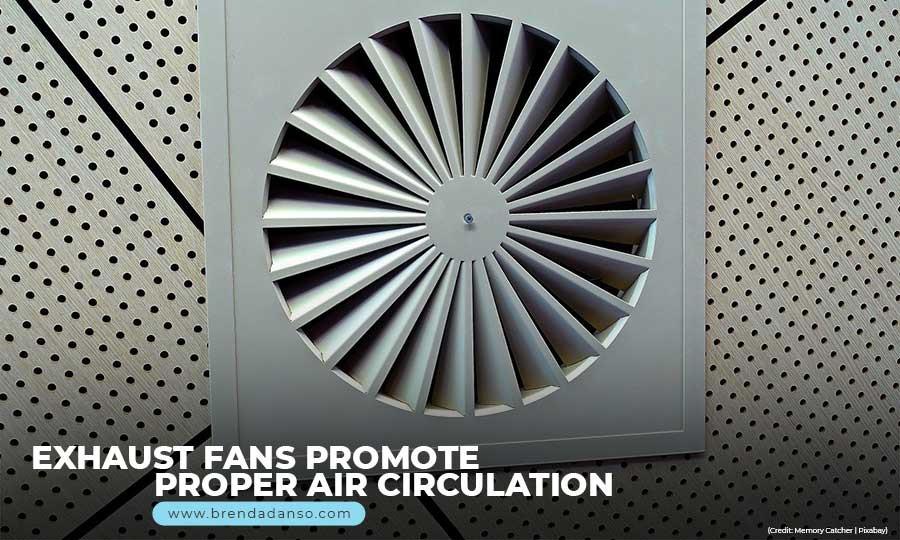 Exhaust fans promote proper air circulation