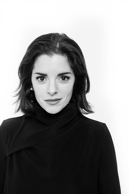 Black and white image of Sarah