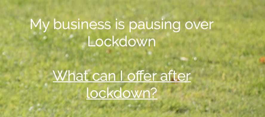 My business is pausing over lockdown