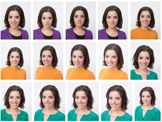 Many faces - professional portrait shots