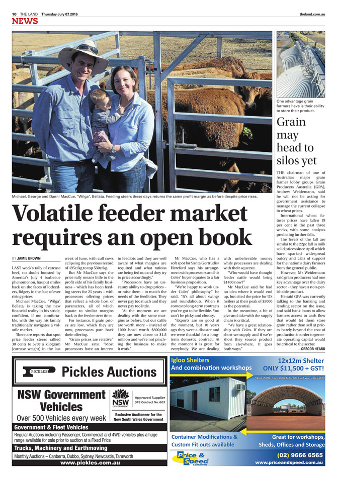 The Land Interviews Mike MacCue on the Feeder Cattle Market