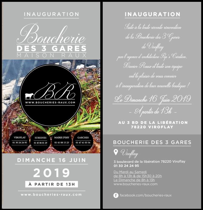 Inauguration de la nouvelle boucherie RAUX de Viroflay !