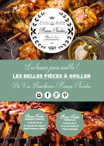 Flyer BHV RECTO GRILLADES Maison NARDON