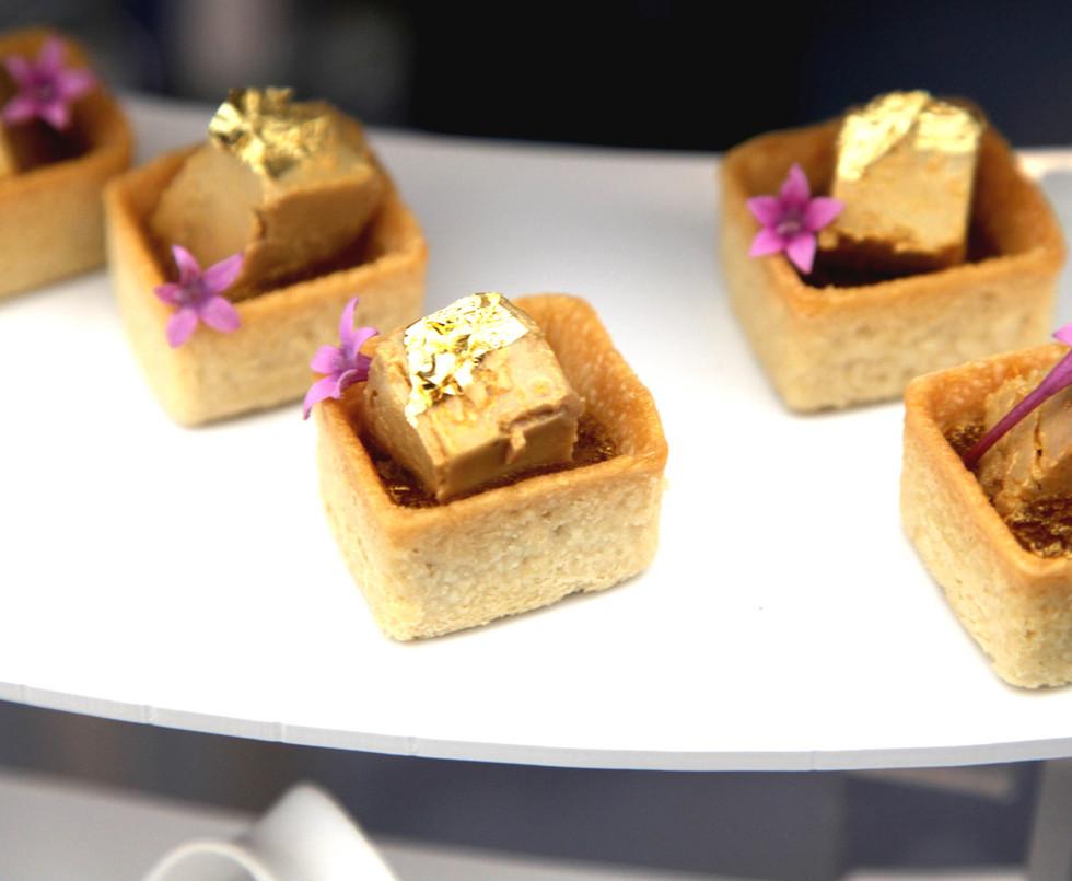 Bouchées traiteur - Sablés au foie gras maison