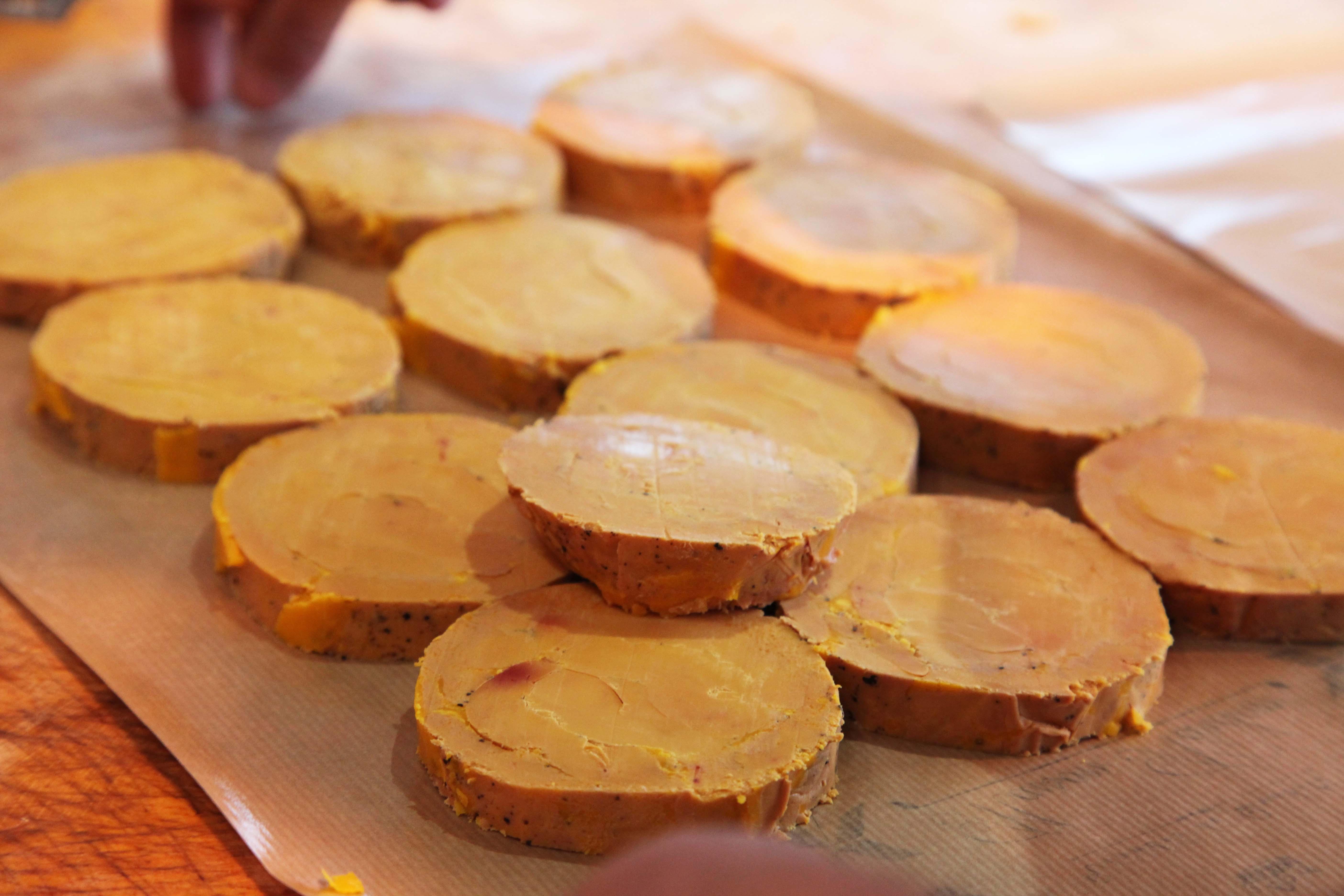 foie gras tranches