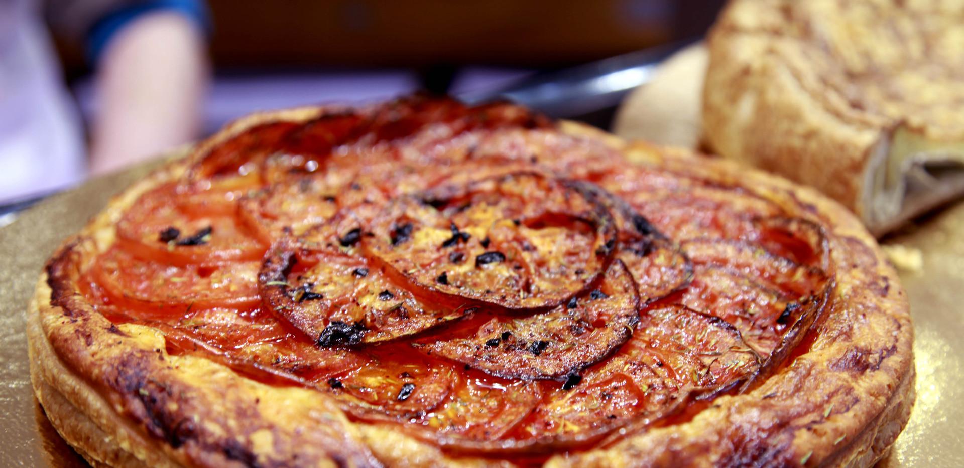 Tarte à partager aux tomates maison nar