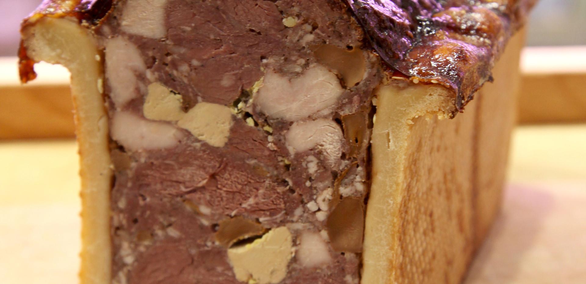 Paté en croûte Filet de Biche, Foie gr