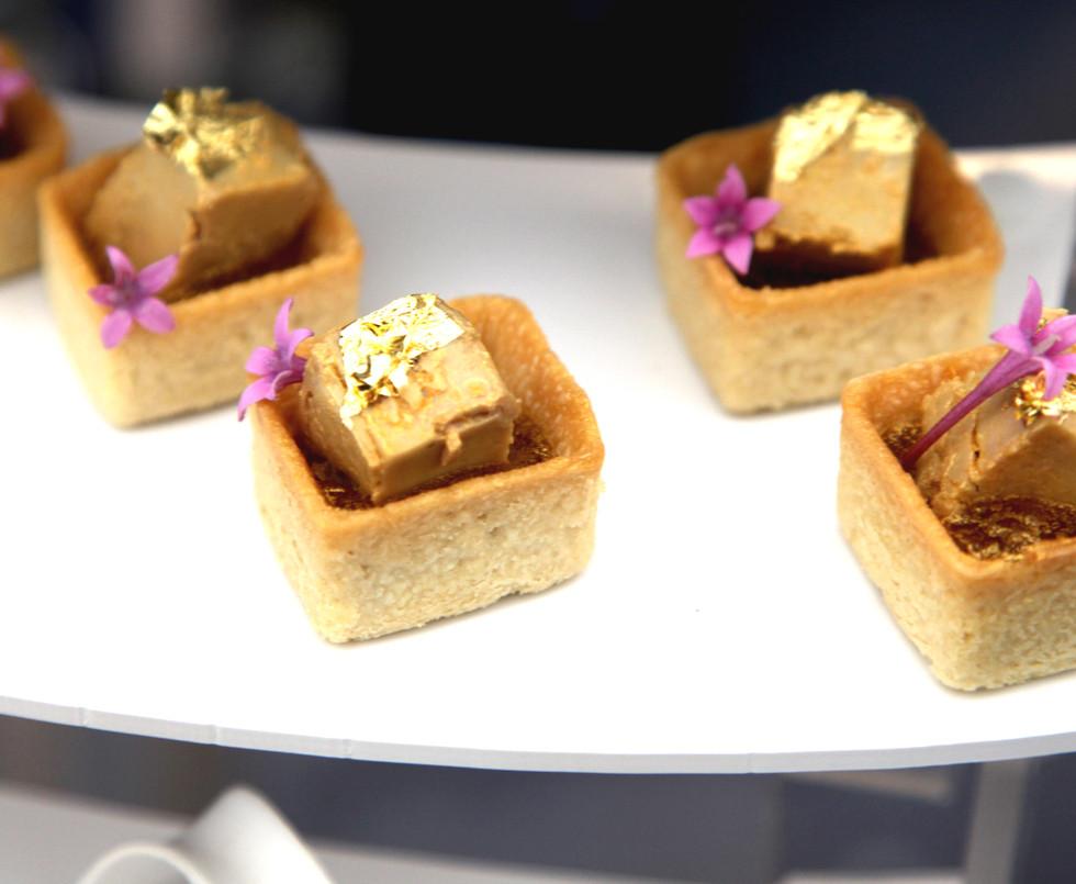 Bouchées traiteur - Sablés au foie gras maison proposées par Pimp My Food