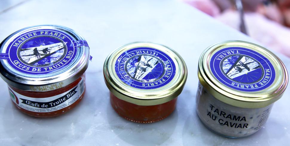 caviar pearls - oeufs truite et saumon.j
