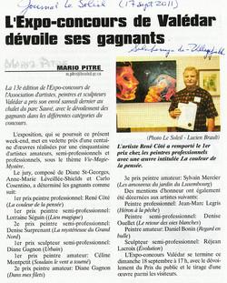 1er prix décerné à Lorraine Séguin