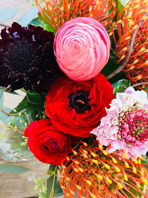 large seasonal floral arrangement *actual flowers may differ from photo*