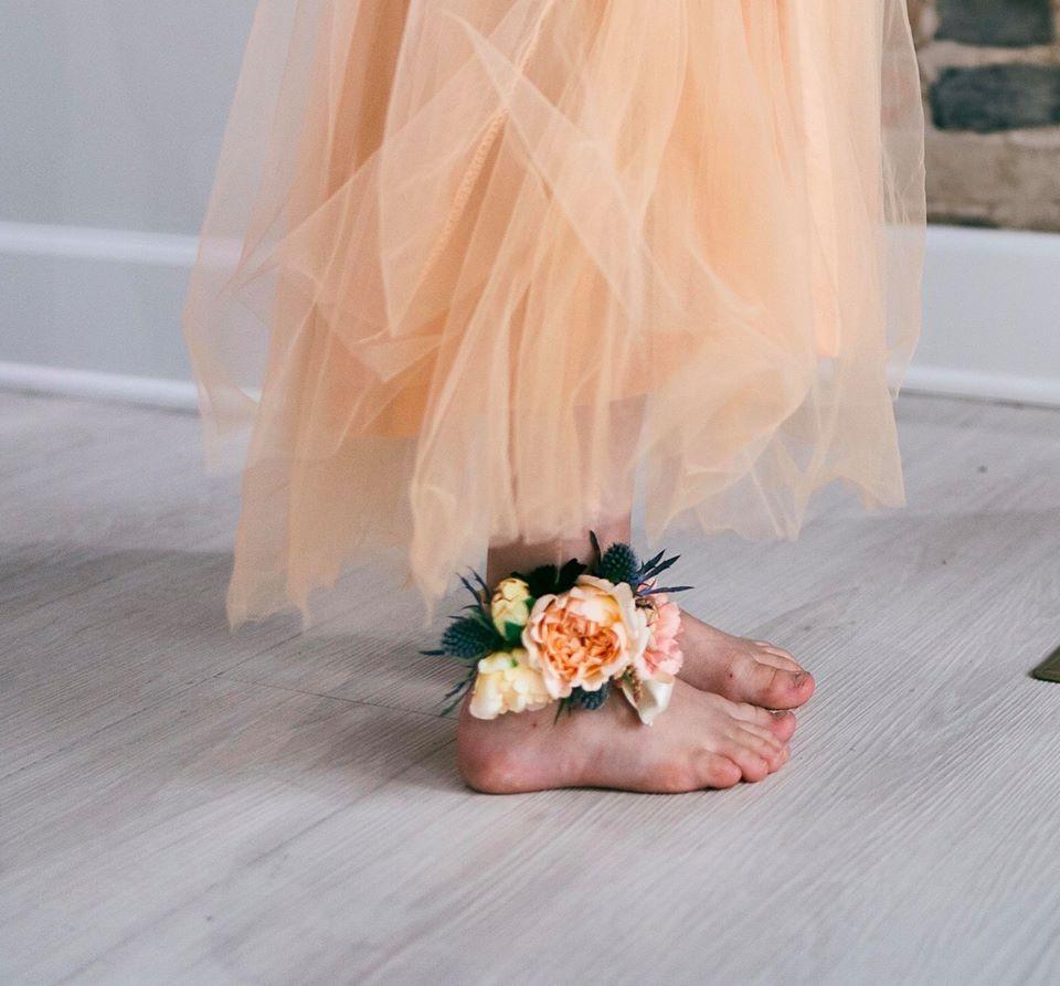 Wedding Flower Feet