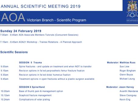 AOA Annual Scientific meeting 2019